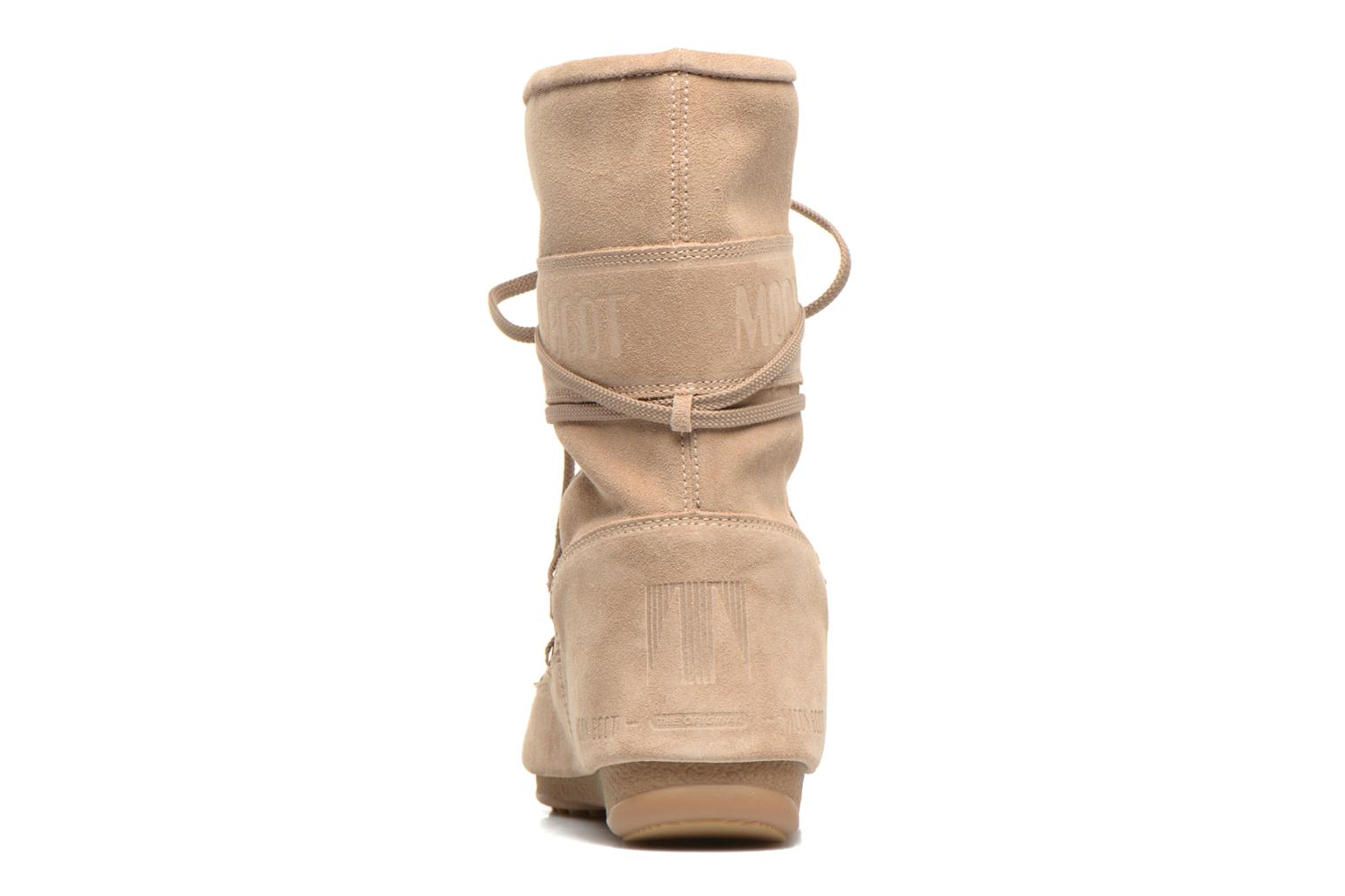 Ankle boots Moon Boot Caviar Mid Beige view from the right