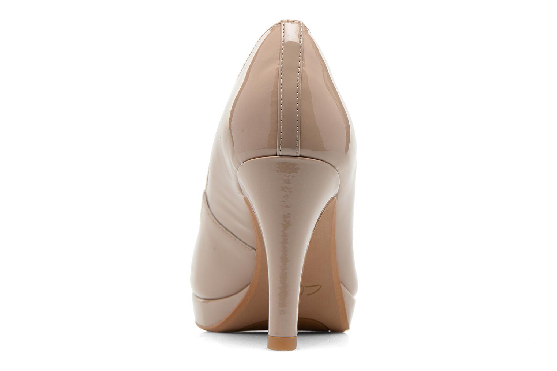 Zapatos de tacón Clarks Crisp Kendra Beige vista lateral derecha