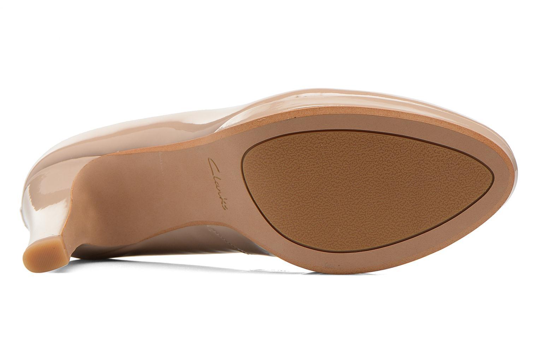 Zapatos de tacón Clarks Crisp Kendra Beige vista de arriba