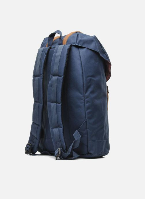 Mochilas Herschel Retreat Azul vista lateral derecha
