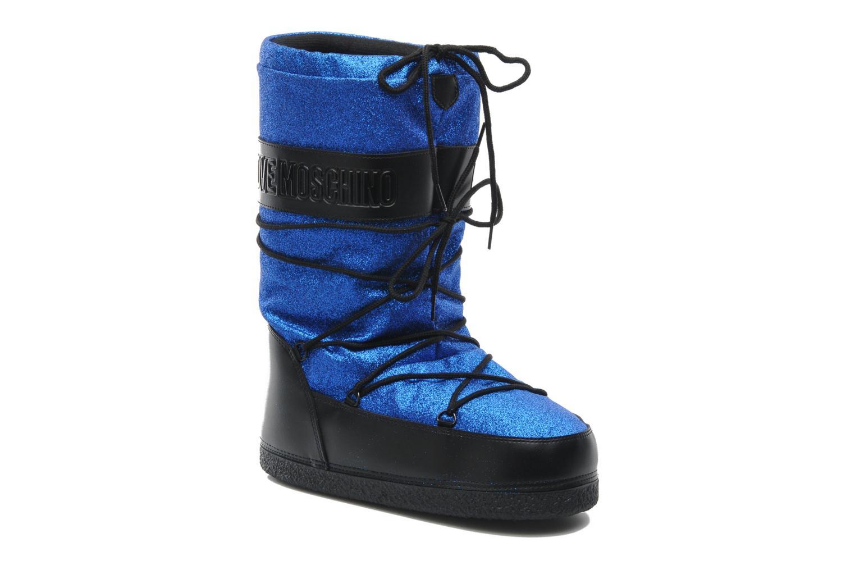 Bottines et boots Love Moschino Love boot Bleu vue détail/paire