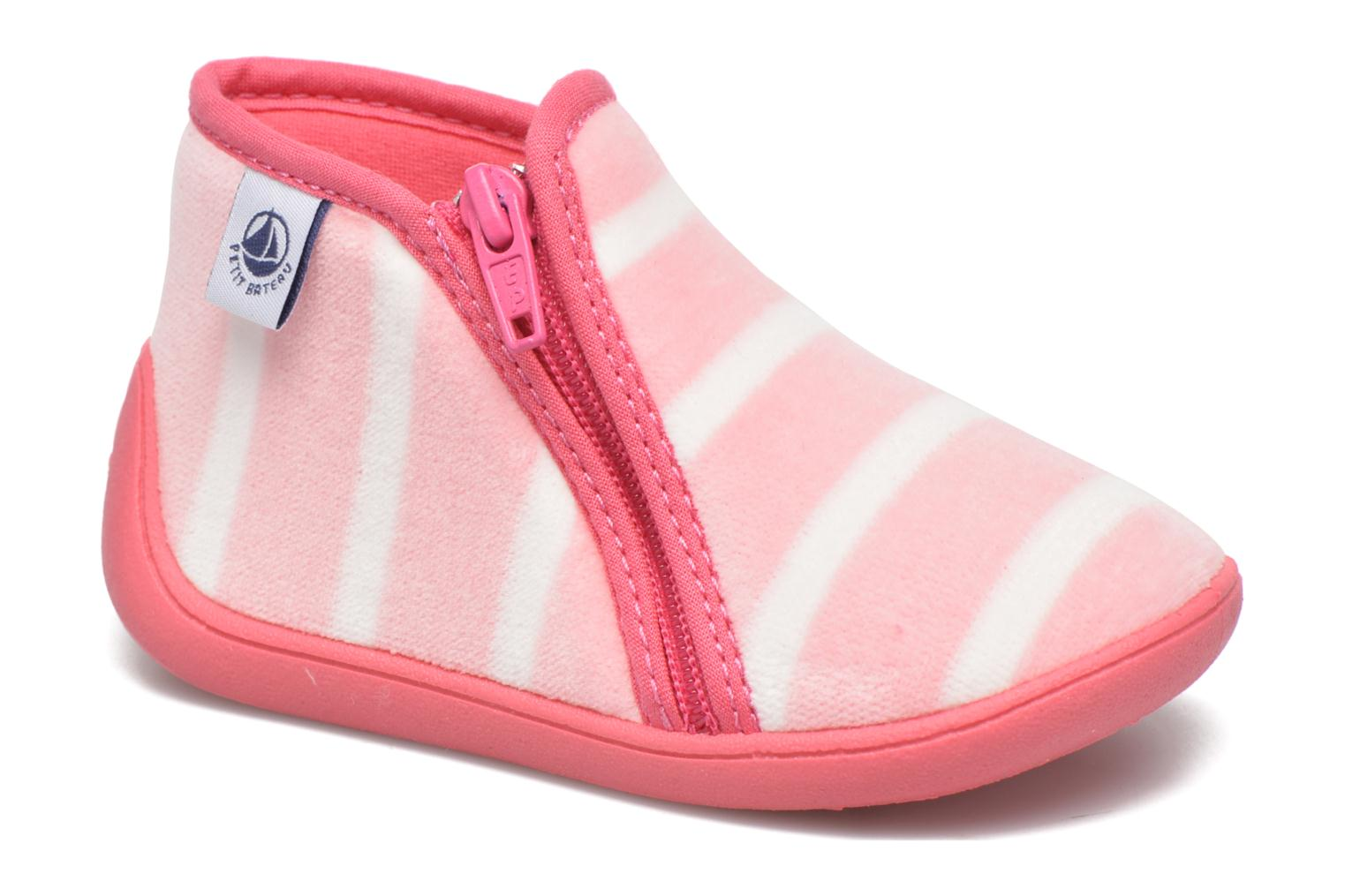 Slippers Petit bateau PB Conte Rose Pink detailed view/ Pair view