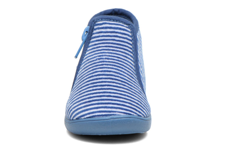Chaussons Petit bateau PB Arles B Bleu vue portées chaussures