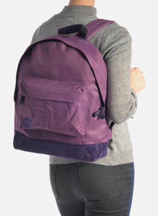 Mochilas Mi-Pac Classic Backpack Azul vista de abajo