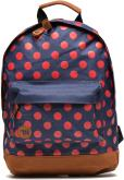 All polka Navy/Bright red