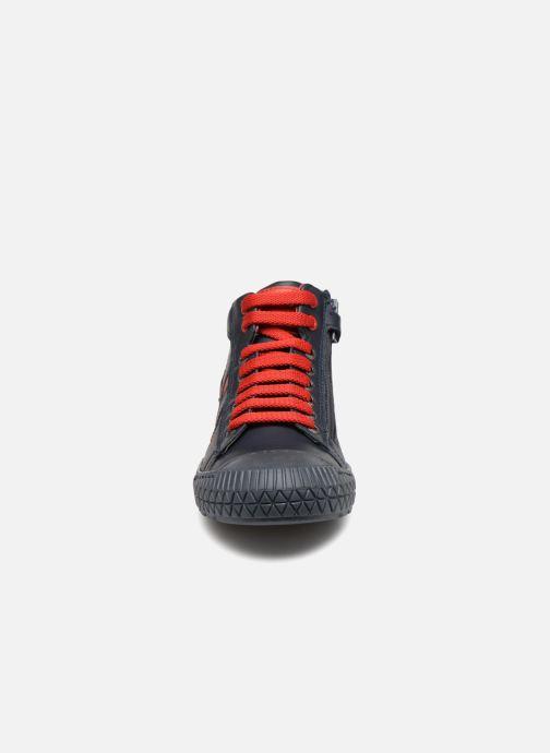 Baskets Stones and Bones Niels Bleu vue portées chaussures