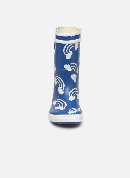 Bottes Aigle Lolly Pop Print Bleu vue portées chaussures