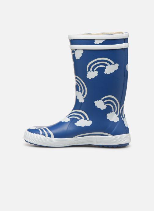 Støvler & gummistøvler Aigle Lolly Pop Print Blå se forfra