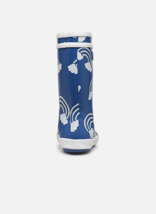 Bottes Aigle Lolly Pop Print Bleu vue droite