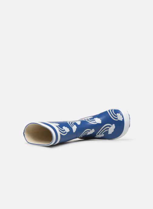 Bottes Aigle Lolly Pop Print Bleu vue gauche