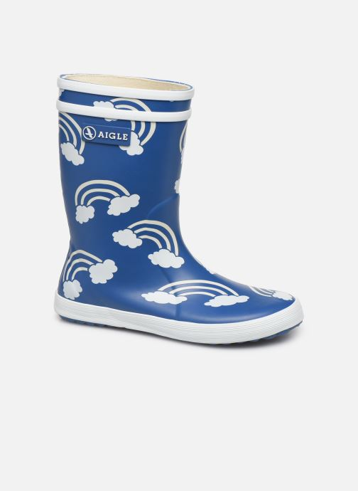 Støvler & gummistøvler Aigle Lolly Pop Print Blå detaljeret billede af skoene