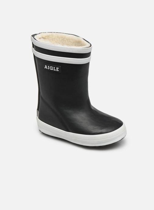 Støvler & gummistøvler Aigle Baby Flac Fur Blå detaljeret billede af skoene