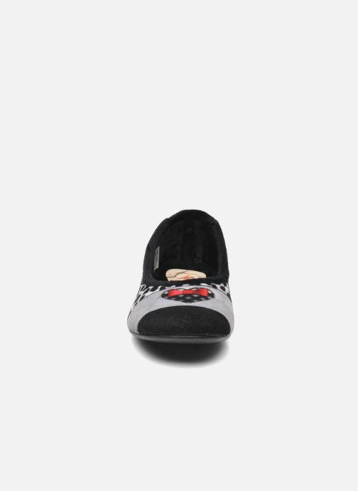 Chaussons La maison de l'espadrille Maria Noir vue portées chaussures