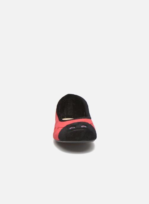 Chaussons La maison de l'espadrille Chloé Rouge vue portées chaussures
