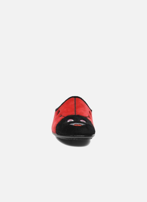 Chaussons La maison de l'espadrille Agathe Rouge vue portées chaussures