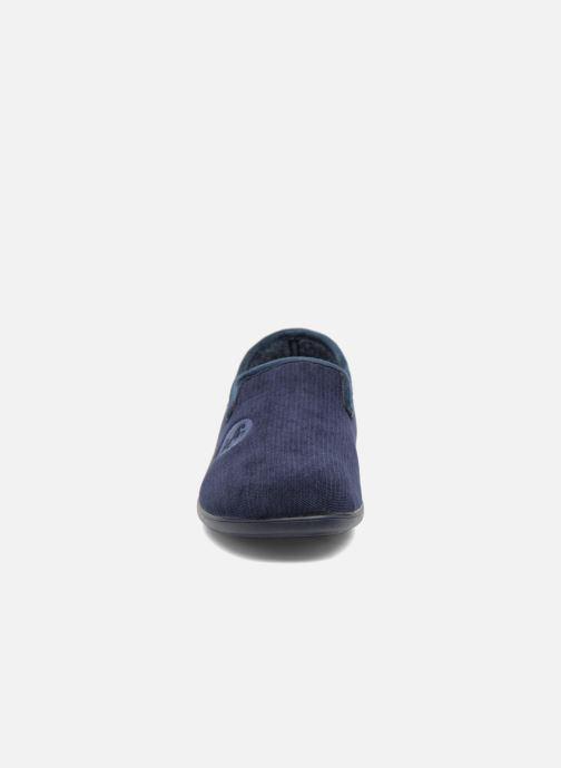 Chaussons La maison de l'espadrille Gaston Bleu vue portées chaussures