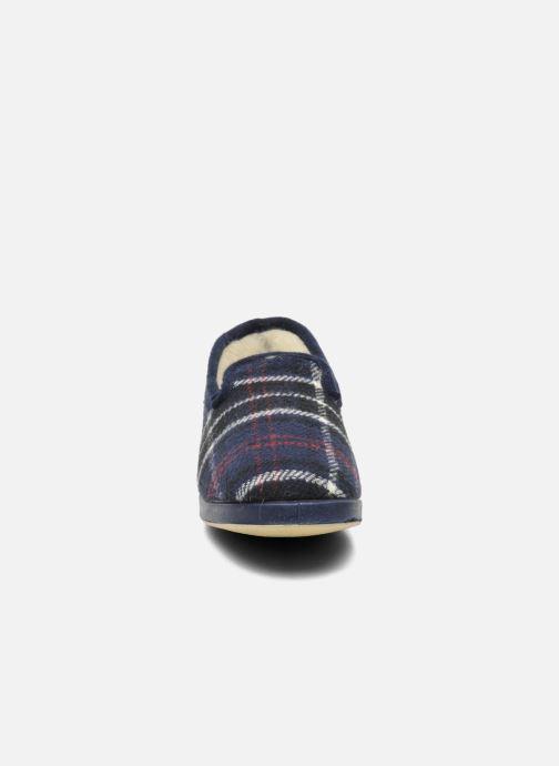 Pantofole La maison de l'espadrille Maurice Azzurro modello indossato