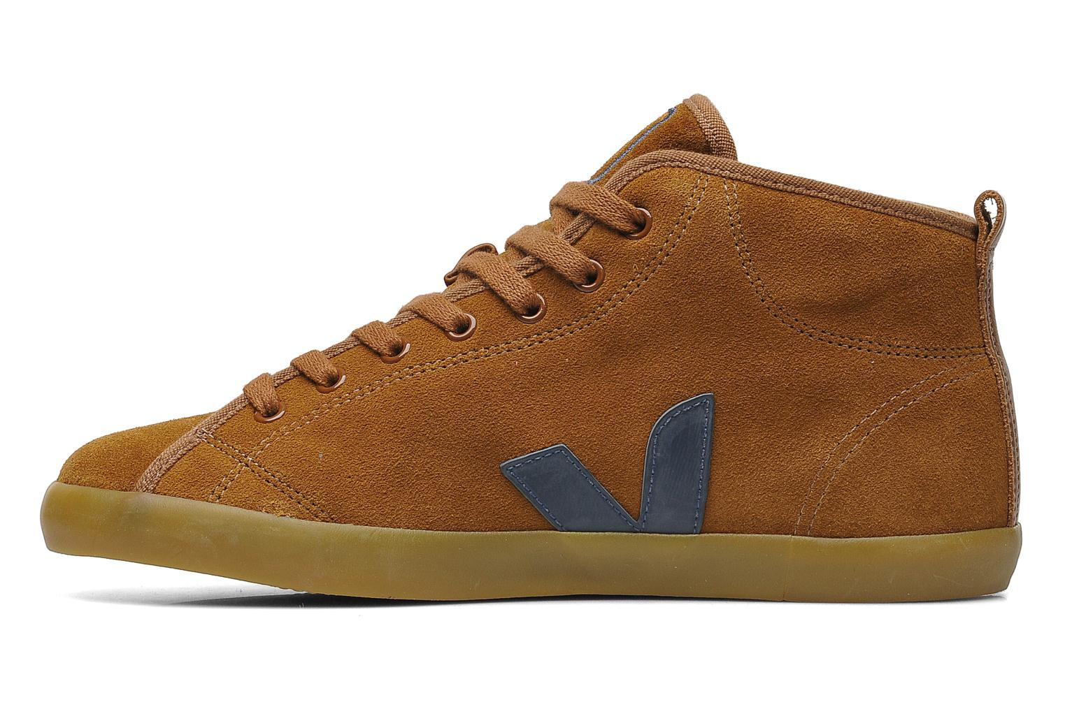 Trainers Veja Taua Mid Suede Fourre Brown front view