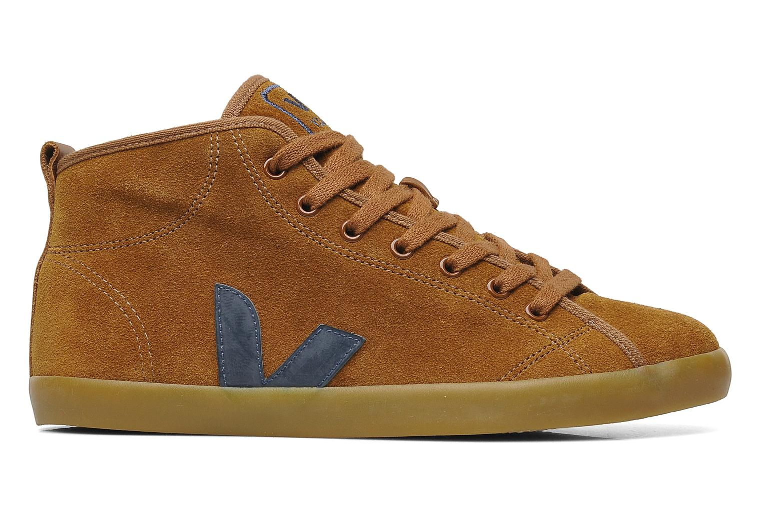 Sneakers Veja Taua Mid Suede Fourre Bruin achterkant
