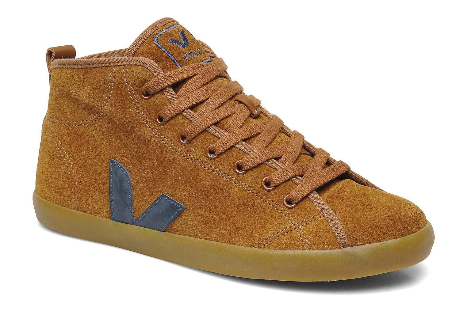 Sneakers Veja Taua Mid Suede Fourre Bruin detail