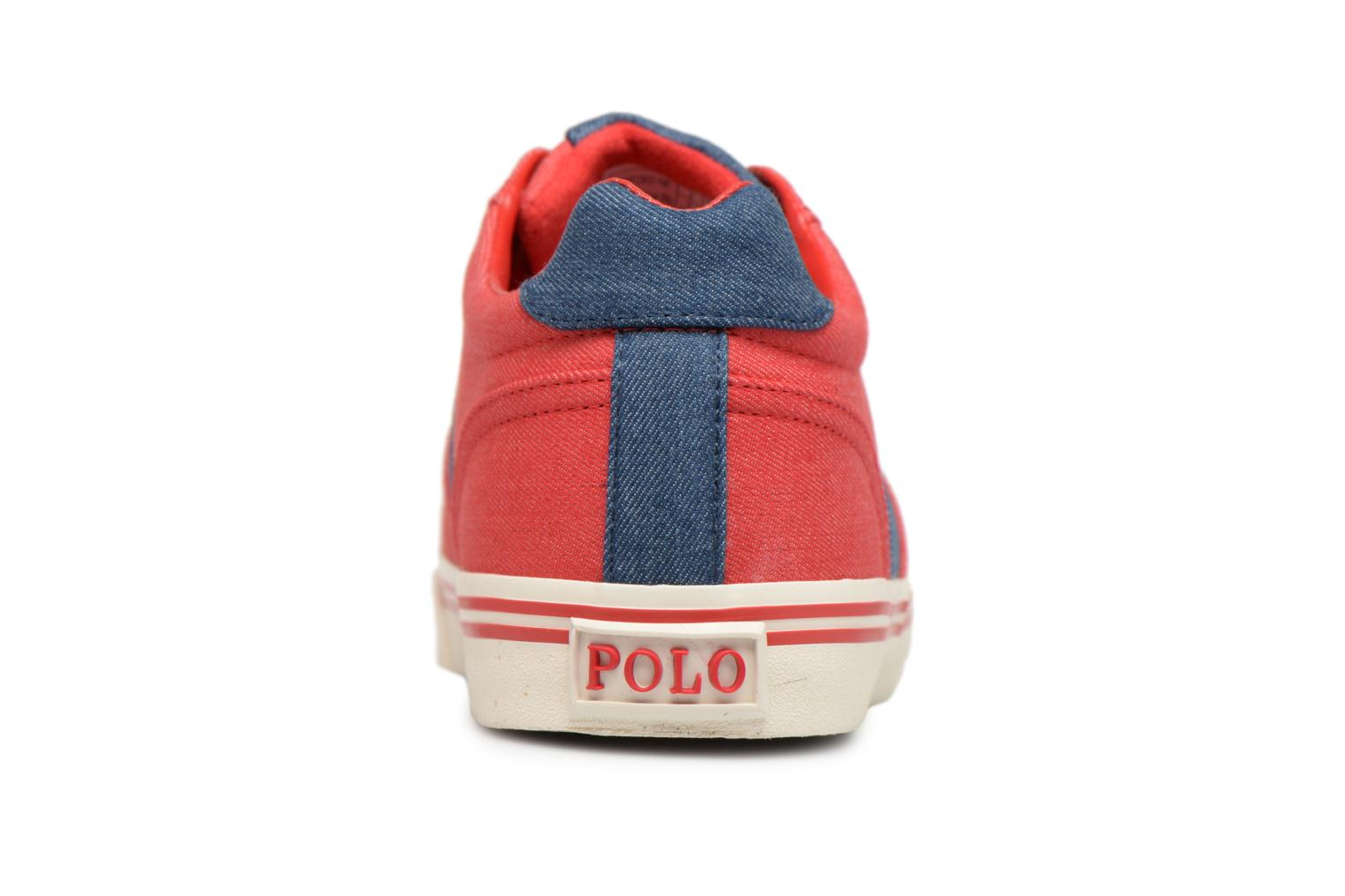 Baskets Polo Ralph Lauren Hanford Rouge vue droite