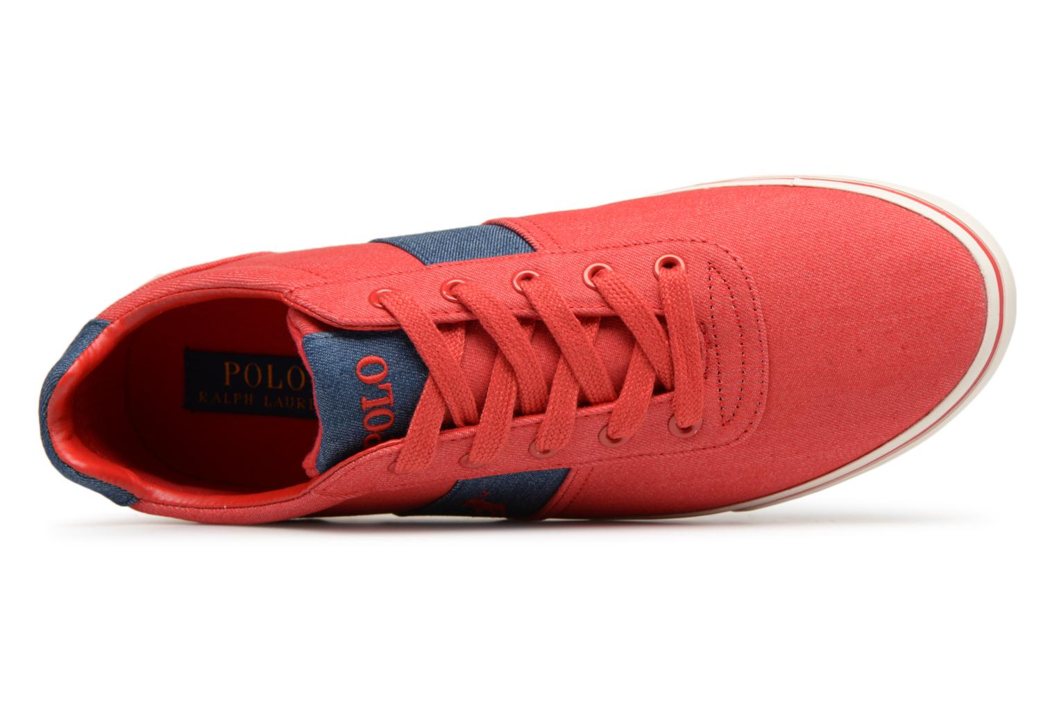 Baskets Polo Ralph Lauren Hanford Rouge vue gauche