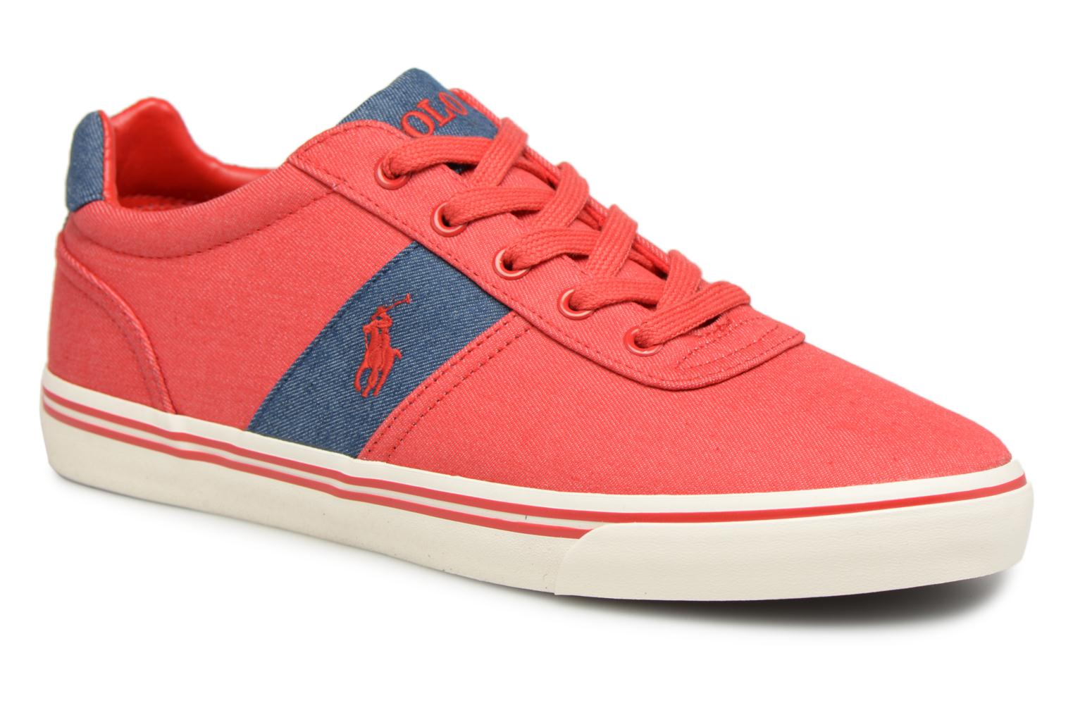Baskets Polo Ralph Lauren Hanford Rouge vue détail/paire