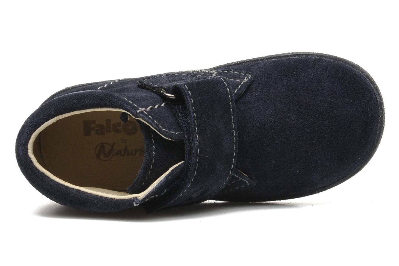 Zapatos con velcro Naturino Mimix 246 Azul vista lateral izquierda