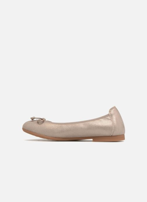 Ballet pumps Unisa CASIA Bronze and Gold front view