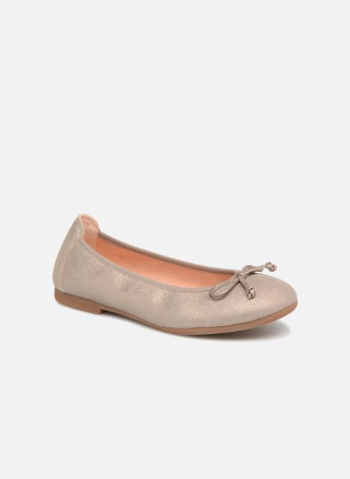 Ballet pumps Unisa CASIA Bronze and Gold detailed view/ Pair view