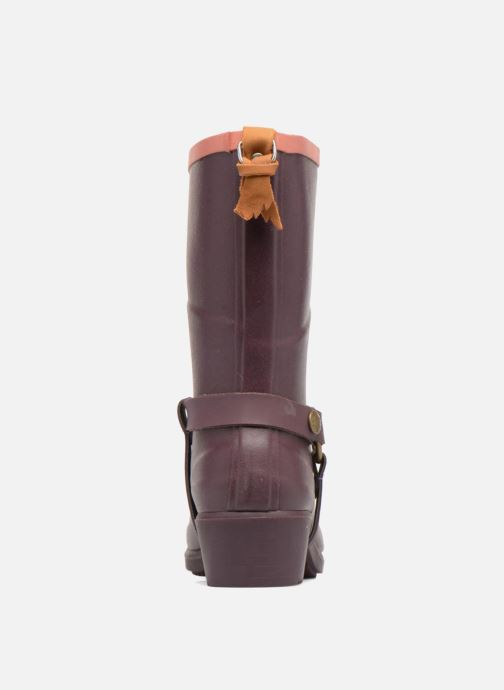 Ankle boots Aigle Miss Julie Purple view from the right