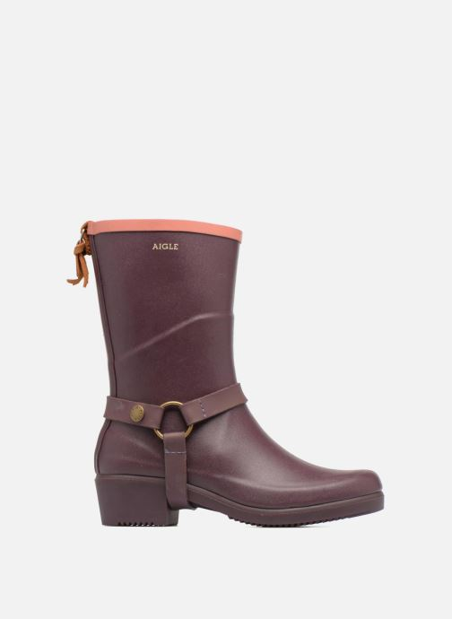 Ankle boots Aigle Miss Julie Purple back view