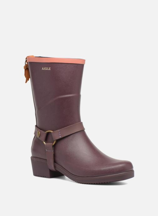 Ankle boots Aigle Miss Julie Purple detailed view/ Pair view