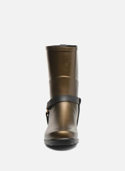 Ankle boots Aigle Miss Julie Bronze and Gold model view