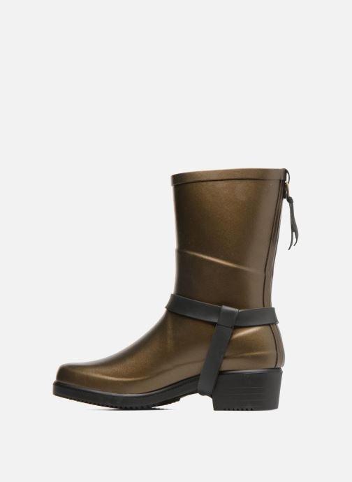 Ankle boots Aigle Miss Julie Bronze and Gold front view