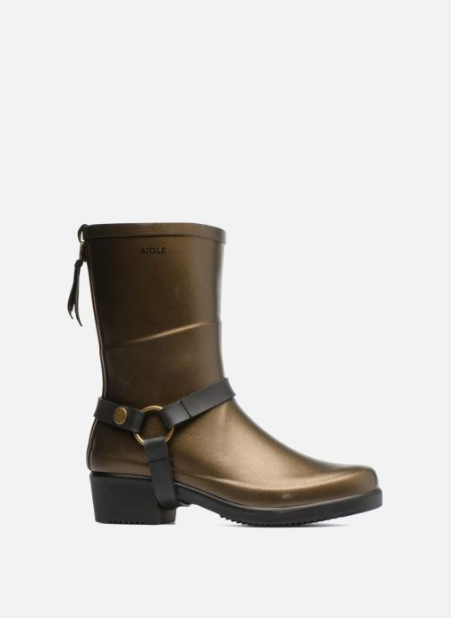 Ankle boots Aigle Miss Julie Bronze and Gold back view