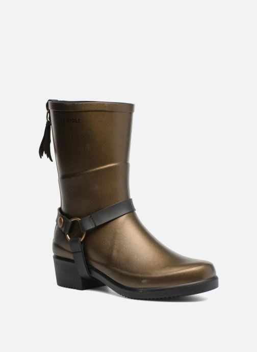 Ankle boots Aigle Miss Julie Bronze and Gold detailed view/ Pair view