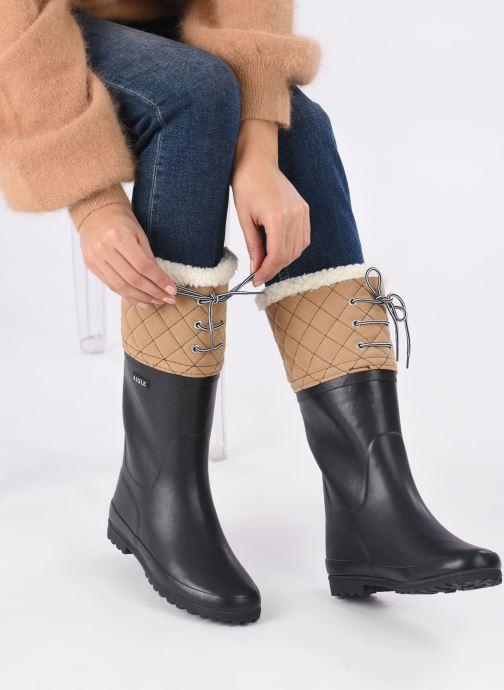 Stiefel Aigle Polka Giboulee blau ansicht von unten / tasche getragen