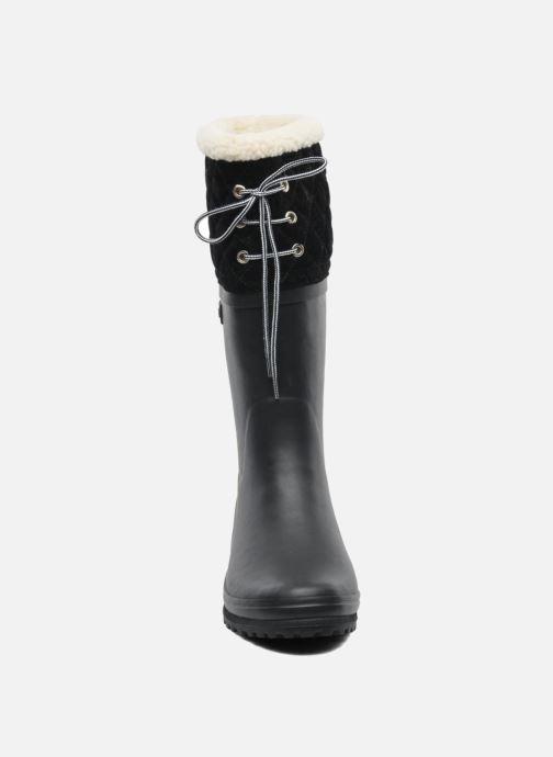 Bottes Aigle Polka Giboulee Noir vue portées chaussures