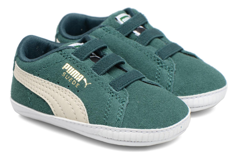 Baskets Puma Suede Crib Vert vue portées chaussures