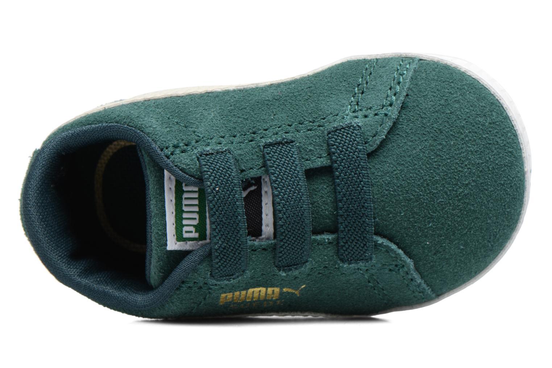 Baskets Puma Suede Crib Vert vue haut