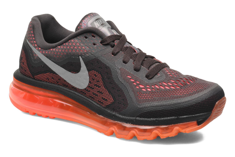 the latest b9651 231fe ... new zealand chaussures de sport nike wmns air max 2014 marron vue  détail paire 28933 f0985