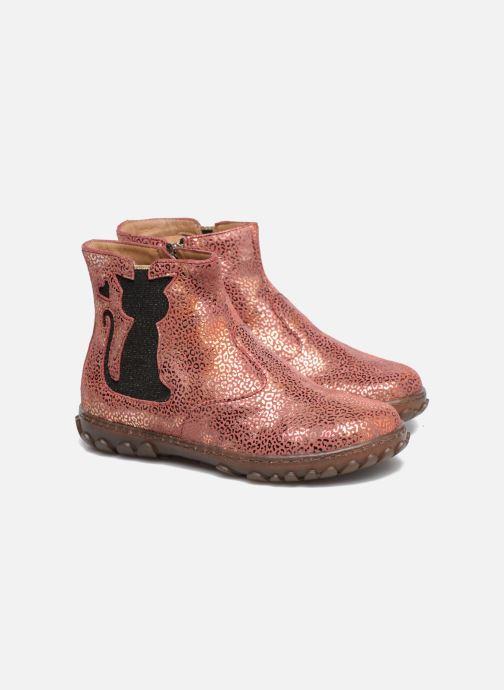 Bottines et boots Pom d Api CUTE BOOTS CAT Rose vue 3/4