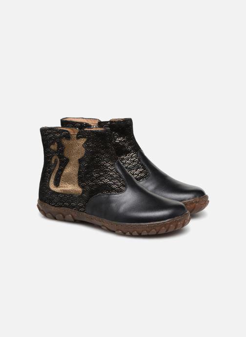 Bottines et boots Pom d Api CUTE BOOTS CAT Noir vue 3/4
