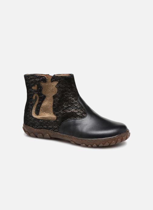 Ankelstøvler Pom d Api CUTE BOOTS CAT Sort detaljeret billede af skoene