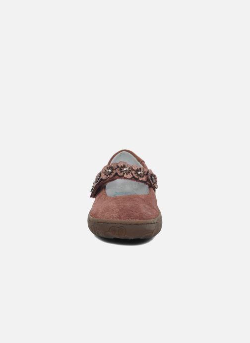 Ballerines Pom d Api MAPPLE VELCRO SANDAL Rose vue portées chaussures