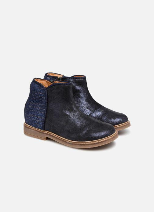 Bottines et boots Pom d Api RETRO BACK Bleu vue 3/4