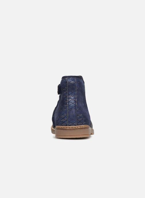 Bottines et boots Pom d Api RETRO BACK Bleu vue droite