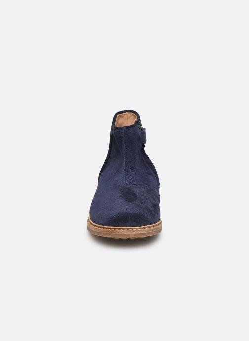 Stivaletti e tronchetti Pom d Api RETRO BACK Azzurro modello indossato