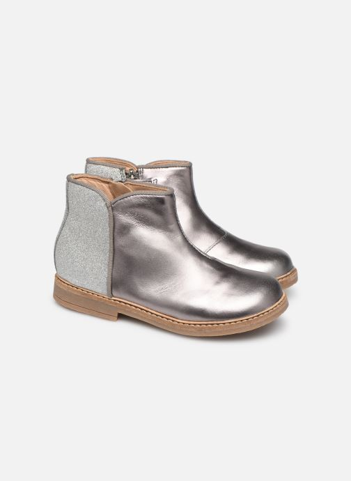 Ankle boots Pom d Api RETRO BACK Silver 3/4 view